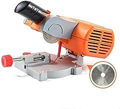 APROTII Mini mesa máquina de corte banco mini corte 0-45 hoja de acero de sierra ingletadora para cortar madera de metal