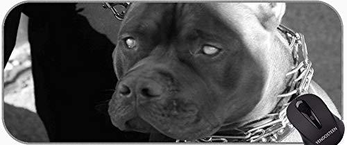 Alfombrilla de ratón con Borde de Bloqueo, Mascota Que admite Pitbull Perro Goma Almohadilla de ratón