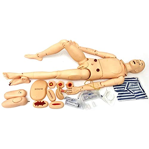 N\C Modelo médico de enfermería Maniquí De Tamaño Natural para El Cuidado del Paciente para El Cuidado del Paciente, Maniquí De Entrenamiento para El Cuidado, 170cm