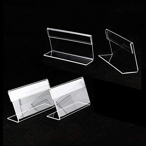 12pcs mini porta cartellini display porta cartellino del prezzo trasparente porta cartellino del prezzo al dettaglio scaffale scaffale acrilico porta cartelli espositori per scrivania 6 x 4 cm