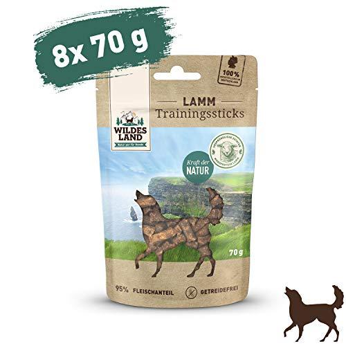 Wildes Land Trainingssticks Lamm Snack 8 x 70 g