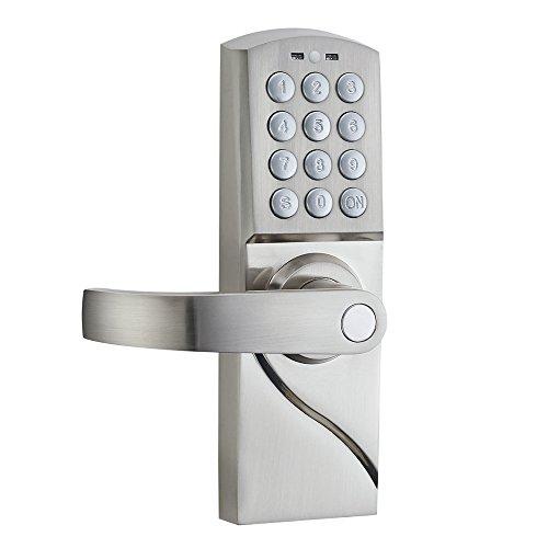 HAIFUAN Cerradura de puerta con teclado digital, abierta por código, aplicación, llave, (HFARDJ-L) (mano izquierda)