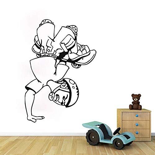 Vcnhln Monopatín niño Pared calcomanía monopatín Pared Arte Pegatinas monopatín Pared Pegatinas niños habitación Vinilo decoración del hogar 60X42cm