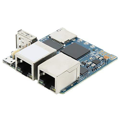 Jeanoko Placa de alimentación Módulo de alimentación Puerto de Red Accesorio eléctrico Módulo RK3328 Dual Gigabit para R2S para 1GB DDR4 Memoria RAM