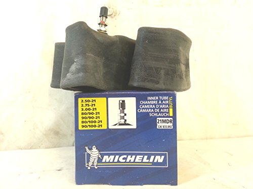 Cámara de aire para moto Michelin 21 x 2,50 – 2,75 – 3,00 – 80/90 – 90/90 – 80/100 – reforzada, especial moto Cross/Enduro – 21MDR