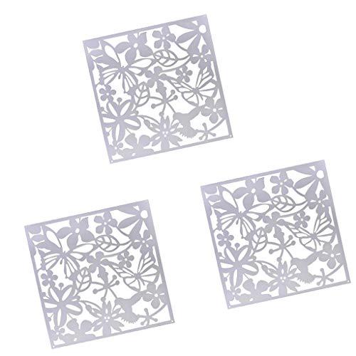 LOVIVER 12x Flor Etiqueta De La Pared Colgante Pantalla Panel Separador De Ambientes Partición Blanco