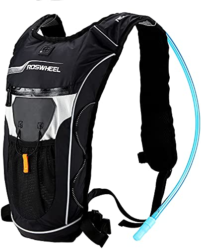 Bonin Mochila hídrica de 8 l para ciclismo, MTB, correr, senderismo, excursionismo, tiempo libre, con bolsa de hidratación y porta líquidos de 2 l