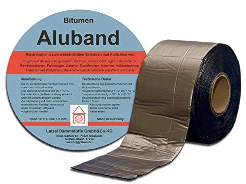 Bitumen Aluband Reparaturband Dichtband Farbe Blei 200 mm - Rolle 10 Meter.
