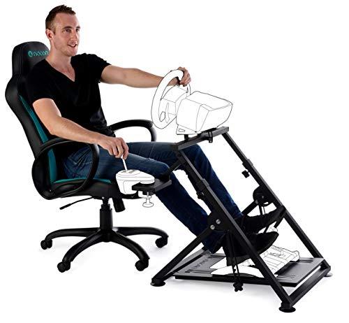 Nacon PCRC-300 Accessoire pour simulateur de vol/Course Racing Stand PCRC-300, Racing Stand, Noir, Metal, 790 mm, 580 mm, 145 mm