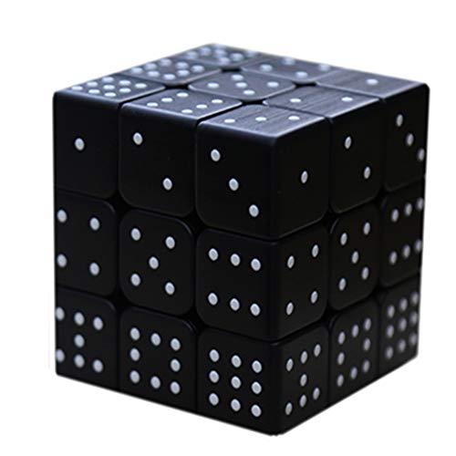 Cubo en Relieve 3D, Juego de Rompecabezas de Personalidad para Personas ciegas o Velocidad de Debilidad de Color parcialmente vidente, Juego de Entrenamiento Mental de Rompecabezas