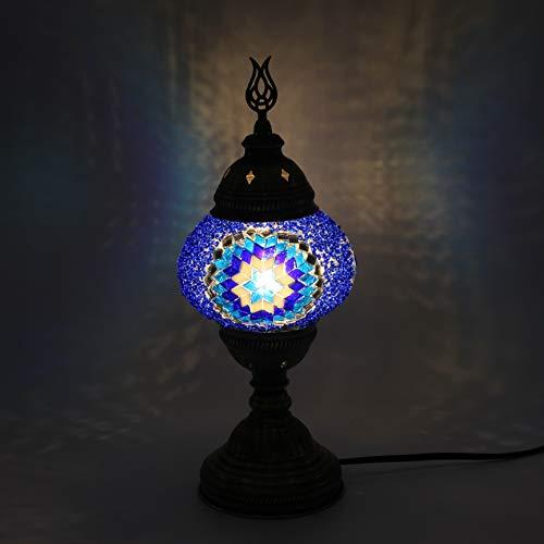Su Damlası - Lámpara de mesa turca marroquí, lámpara de escritorio, lámpara de mesita de noche, lámpara Tifanny, lámpara de mosaico, lámpara de mesa de mosaico