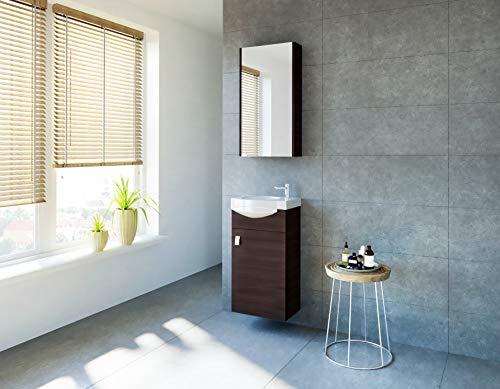 Planetmöbel - Juego de muebles de baño para invitados, lavabo, armario de...