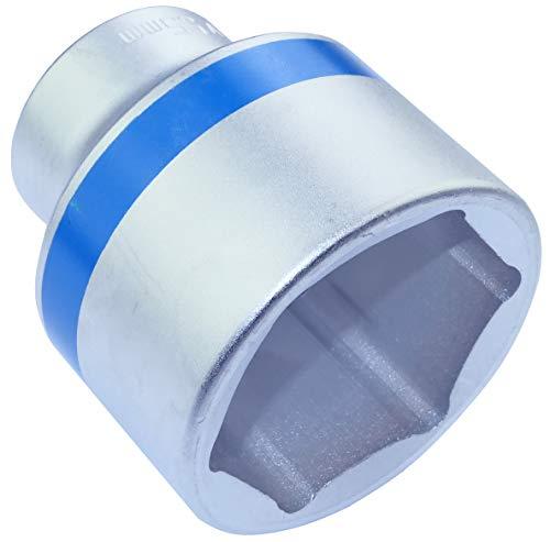 AERZETIX - Llave de vaso 3/4x55mm con huella 6 lados Allen - Punta corta - para Llave/Trinquete Manual/Neumático - Cuerpo Cilíndrico - Hexagonal/Herramienta manual - Acero CR-V - Plata - C46034