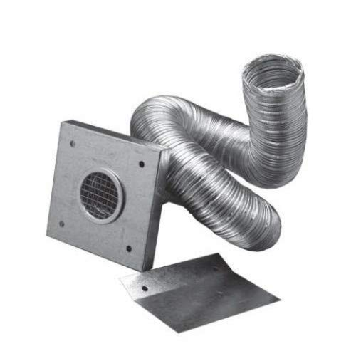 """2"""" Outside Air Kit for Pellet Stoves. 2"""" X 60"""" Flex Pipe with Wall Plate Screen. Dura Vent Item Number 3PVP-AIK"""