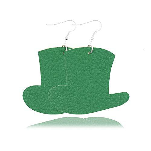 Pendientes de nuevo estilo europeo y americano pendientes de cuero en forma de sombrero de paja pendientes explosivos-sombrero 2