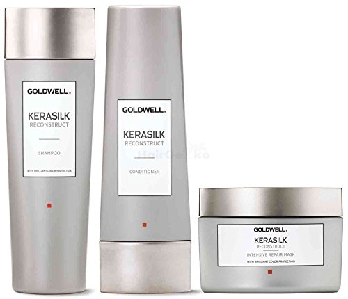 Goldwell Kerasilk Reconstruct Set - Shampoo 250ml + Conditioner 200ml + Intensive Repair Mask 200ml