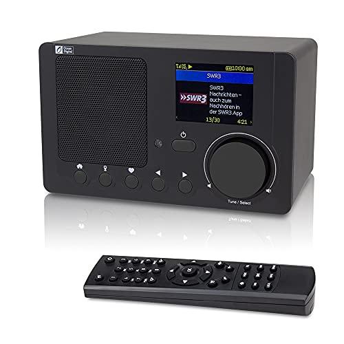 Ocean Digital Radios de Internet WR210N Radio Digital con WiFi Bluetooth in función Despertador Apoyo UPNP y DLNA Mando a Distancia, Pantalla a Color De 2.4  - Negro