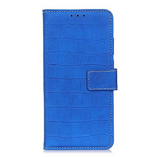 Zl one compatível com/substituição para capa de telefone Asus Zenfone Max Plus (M2) ZB634KL/Max Shot ZB634KL capa carteira de couro PU compartimentos para cartão (azul)