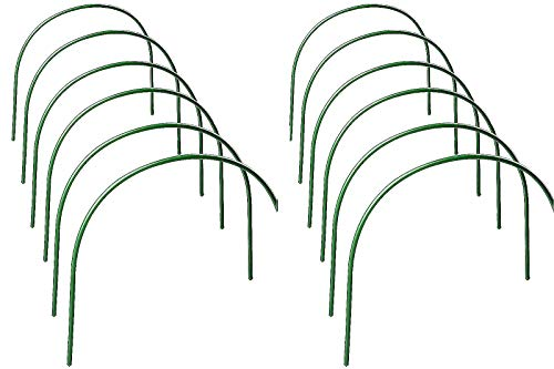 JYCAR 12PCS Greenhouse Hoops, 4ft Long Garden Grow Tunnel Greenhouse Grow Support, Tunnel Hoop with Plastic Coated, Plant Support Hoops, for Garden Plants