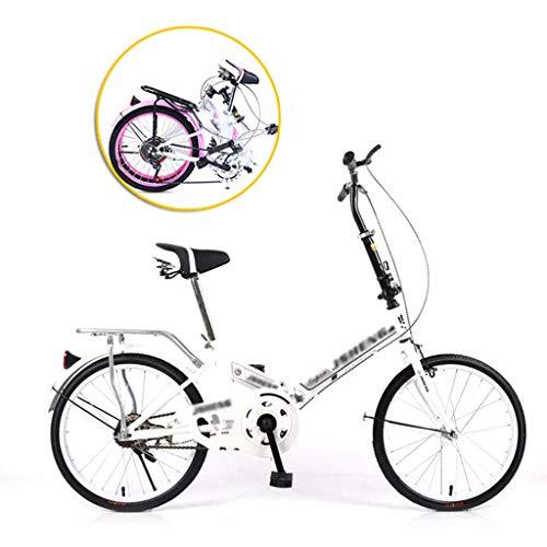 CHINESS 6 Velocidades 20' Bicicleta Plegable Urbana Folding Bicicleta Plegable Cuadro Aluminio Ruedas,Bike Bicicleta Plegable,Bicicleta Plegable Street,Adultos, Transporte PúBli