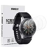 MWOOT 4 Unidades Protectores Cristal Templado Compatible con Samsung Galaxy Watch 46MM y Samsung Gear S3 Frontier/Classic, 9H Dureza Resistente a Arañazo Protector Pantalla Vidrio