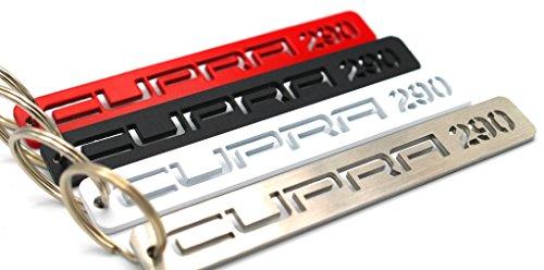 VmG-Store Cupra Schlüsselanhänger aus Edelstahl pulverbeschichtet (Edelstahl (Glasperlgestrahlt), Cupra 290)