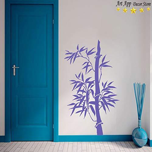 YuanMinglu Schöne Bambus wandaufkleber wanddekoration Schlafzimmer Studie Dekoration Dekoration lila 28 cm x 48 cm