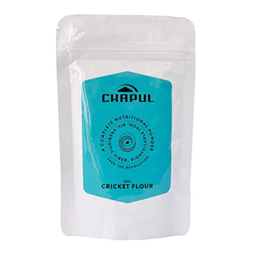 Chapul Cricket 100% Pure Cricket Flour- 100 gram bag, 2x More Protein than Beef, 4x More Iron than Spinach, & More B-12 than Salmon