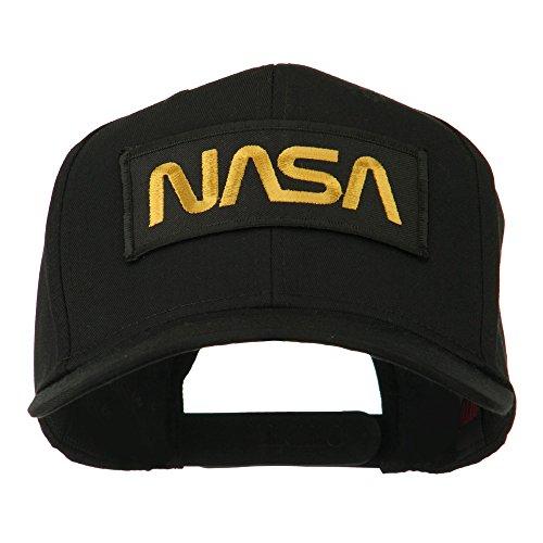 e4Hats.com Black NASA Embroidered Patched High Profile Cap - Black OSFM