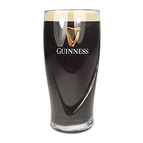 TUFF LUV Original Verre à Bière Guinness de Marque - Verre Chalice Pinte (570 ML - 20 oz)