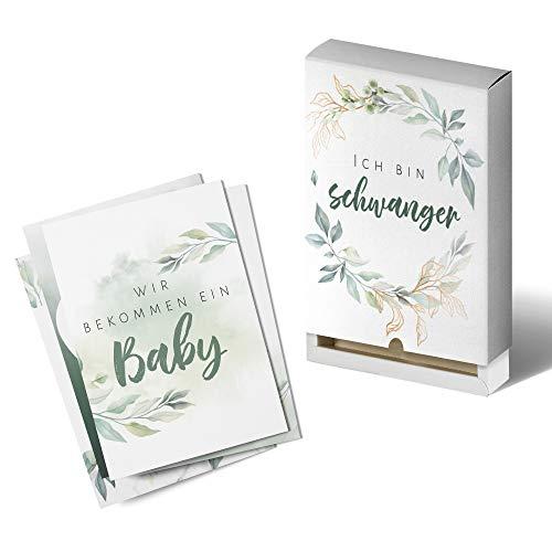 Extra große Schwangerschaft Meilensteinkarten (DIN A5) - 40 Stück