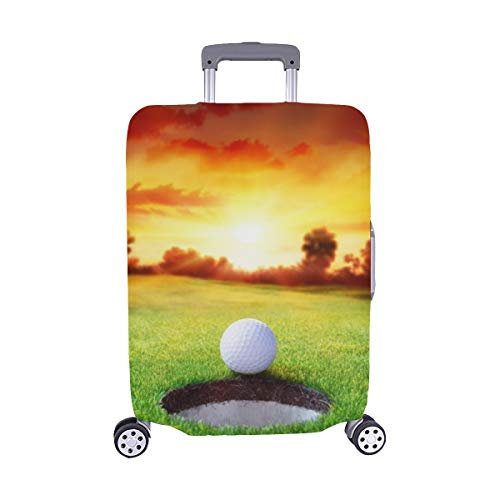 Ball Hole Golfing Target Concept Spandex Trolley Case Travel Luggage Protector Suitcase Cover 28.5 X 20.5 Inch