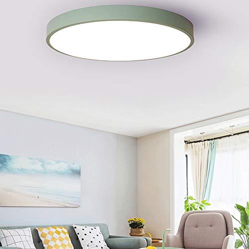 Plafoniera a LED, moderna, sottile, quadrata, lampada da soffitto, applicabile in bagno, camera, cucina, soggiorno, balcone e corridoio verde
