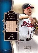 2012 Topps Tier One Top Shelf Relics #TSR-CJ Chipper Jones Game Used Bat Baseball Card - Only 399 made!