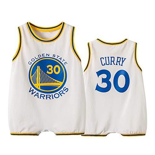 ZGRNB Maglia da Basket NBA Appassionato di Sport Baby Creepers Pagliaccetti Estate Kobe Bean Bryant 24 Stephen Curry 30 James Harden 13 Chicago Bulls 23 Kobe Bean Bryant 24 Allen Ezail Iverson 3