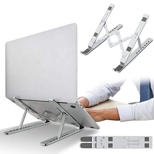 Laptop Stander Notebook Stander Tragbarer Faltbare Laptophalterung Silikongeschutzt Rutschfester Stander Aluminiumlegierung 7 Stufe Hohenverstellbar Fur Tablet MacBook iPAD Dell Huawei Samsung Acer