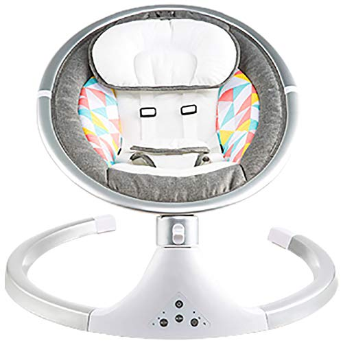 OOFAJ Electric Baby Bouncer Chair,Baby Swing Chair, Removable Mosquito Net,5 Swing Amplitudes & 3-Stage Timing Function,Wireless Bluetooth USB Music Rocking Bed for Newborn Infant