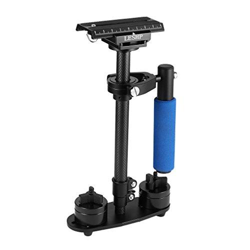 LESHP - Stabilizzatore manuale in fibra di carbonio per videocamera, DV SLR DSLR, accessorio per fotocamera per Canon/Sony/Nikon/Panasonic con piastra a sgancio rapido 1/4
