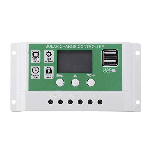 TuToy 10/20/30A 12V 24V Auto Dual Usb Solar Panel Charge Controller Battery Charger Adapter Lcd - 30A