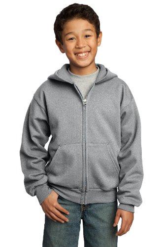 Port & Company® - Youth Core Fleece Full-Zip Hooded Sweatshirt. PC90YZH