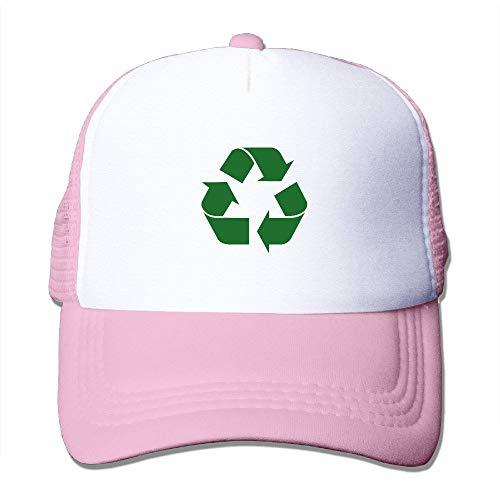 Egoa Retro Vintage Green recycling logo Trucker mutsen \u0026 Caps met verstelbare Snapback Strap voor Travel Black