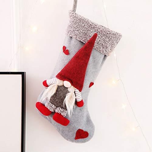 Ansenesna Anhänger Weihnachten Socken Tüten Zum Befüllen Wichtel Figuren Geschenktüten Weihnachtsanhänger Weihnachtsdeko Beutel