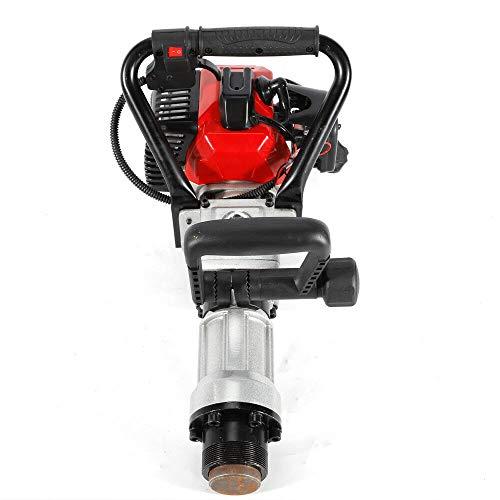 Manual Portable Lightweight Petrol Piledriver Handheld Pile Pounder,32.6CC 900W 2 Stroke Gas T Post Driver Petrol Garden Fence Farm Pile Hammer