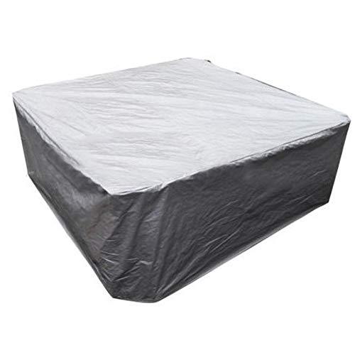 JTYX Cubierta de Muebles de jardín Cubierta de Muebles de terraza Cubierta de sofás y sillas a Prueba de Viento Cuadrada a Prueba de Viento y Resistente a los Rayos UV