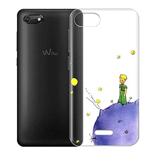 Yoedge Funda Wiko Harry 2 Ultra Slim Cárcasa Silicona Transparente con Dibujos Animados Diseño Patrón [El Principito] Resistente Bumper Case Cover para Wiko Harry 2 Smartphone (Púrpura)