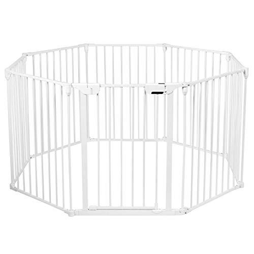 COSTWAY Barrera de Seguridad para Niños Perro Mascota Rejilla de Protección Plegable...