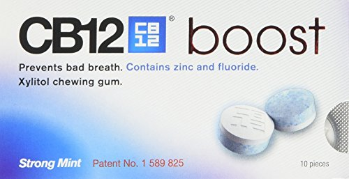 CB12 Boost Chewing Gum, 10 pieces (Pack of 1, Total 10 pieces)