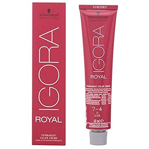 Schwarzkopf IGORA Royal Premium - Haarfarbe 7-4 mittelblond beige, 1er Pack (1 x 60 ml)
