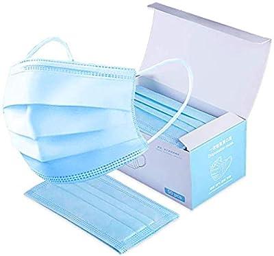 Marakym 50 Pcs Pack Surgical Face Masks 3 Ply - 3 Layers - Sealed Bag