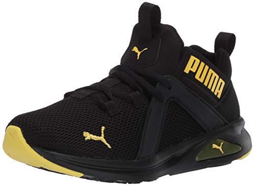 PUMA unisex child Enzo Sneaker, Puma Black-meadowlark, 4 Big Kid US